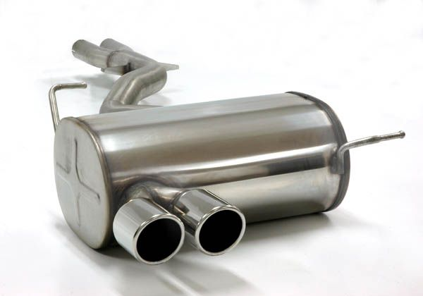 Simons Stainless Steel Exhaust System 2x80mm Round Bmwe85