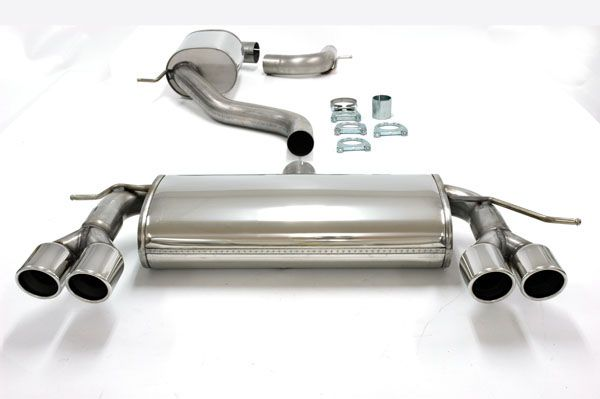 simons duplex stainless steel exhaust system 2x80mm round seat leon